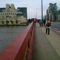 Photo taken at Vauxhall Bridge by Michael K. on 6/26/2013
