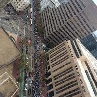 Photo taken at Fox Plaza by JoAnne K. on 8/3/2014