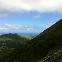 Photo taken at Nuʻuanu Pali Lookout by Sohee L. on 2/26/2013
