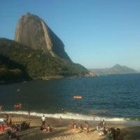 Photo taken at Praia Vermelha by Amanda O. on 10/7/2012
