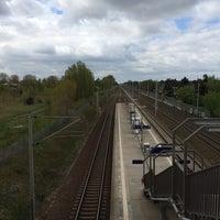Photo taken at Bahnhof Berlin-Staaken by Elly on 4/15/2014