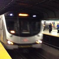 Photo taken at Dundas Subway Station by Petra V. on 3/28/2013