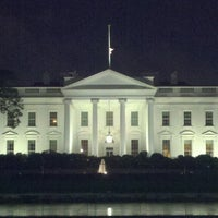Photo taken at The White House Southeast Gate by Brian D. on 4/20/2013