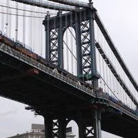 Photo taken at Manhattan Bridge by Stacey C. on 5/14/2013