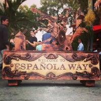 Photo taken at Espanola Way Village by arthur d. on 5/18/2013