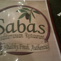 Photo taken at Sabas Mediterranean Restaurant by Jake from State Farm on 11/16/2012