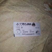 Photo taken at Atrium Cinemas by Ali K. on 10/24/2012