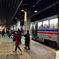 Photo taken at RTA Tower City Rapid Station by Patrick S. on 1/16/2014