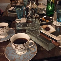Photo taken at The Library Bar & Cigar Lounge at Four Seasons Hotel Doha by Okan B. on 6/22/2015