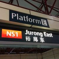 Photo taken at Jurong East MRT Interchange (NS1/EW24) by Princess LaGreta P. on 9/30/2012