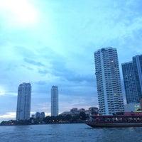 Photo taken at Tak Sin Pier by neung◡̈⃝ on 8/9/2016