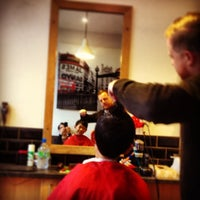 Photo taken at James Mens Barber by Kevin Y. on 12/31/2013