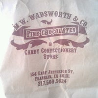 Photo taken at M.W. Wadsworth's Chocolates by David W. on 7/13/2013