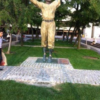 Photo taken at Jackie Robinson Statue by Seven Y. on 3/24/2015