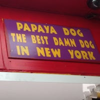 Photo taken at Papaya Dog by Brandon F. on 4/26/2013