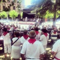 Photo taken at Plaza de la Cruz by Vladimir L. on 7/9/2013