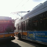 Photo taken at MBTA Bus Route 71 - Harvard Sq/Watertown Sq by Char K. on 4/1/2013