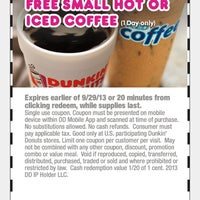 Photo taken at Dunkin' Donuts by Jackie L. on 9/29/2013