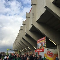 Photo taken at BSFZ Arena - Südstadt Stadion - Trenkwalder Arena by Christian P. on 10/29/2016