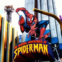 Photo taken at The Amazing Adventures of Spider-Man by Rj E. on 11/21/2012
