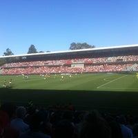 Photo taken at Pirtek Stadium by Bradley S. on 1/6/2013