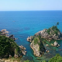 Photo taken at Uradome Coast by Junya I. on 6/10/2016