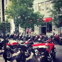 Photo taken at Ducati Triumph New York by Ish on 9/10/2013