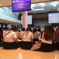 Photo taken at หอประชุมมหาวิทยาลัยหอการค้าไทย by ncployyy ◡̈ on 4/18/2016