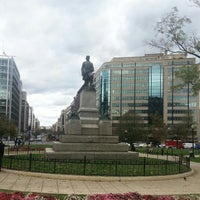 Photo taken at Farragut Square by Kendell H. on 10/31/2012