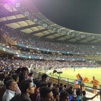 Photo taken at Wankhede Stadium by Sherel J. on 4/9/2013