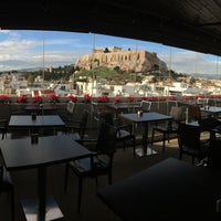 Photo taken at Athens Gate Roof Garden by Nicole S. on 12/9/2014