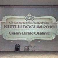 Photo taken at Gürsu İmam Hatip Ortaokulu by Esra Ö. on 4/18/2016