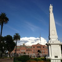 Photo taken at Plaza de Mayo by Mirek N. on 1/4/2013