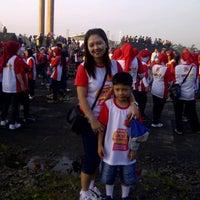 Photo taken at Lapangan Tegalega by Tie S. on 6/30/2013