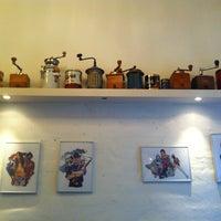 Photo taken at Riccos Kaffebar by Louise H. on 8/14/2013