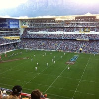Photo taken at Newlands Rugby Stadium by Jerome G. on 4/9/2011