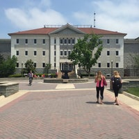 Photo taken at Burruss Hall by Mariah D. on 5/7/2015