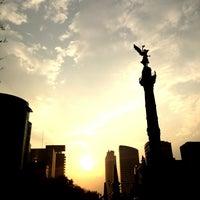 Photo taken at Av. Paseo de la Reforma by Emimael D. on 1/22/2013