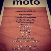 Photo taken at Moto Restaurant by ArtJonak on 10/2/2015