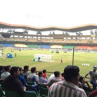 Photo taken at Jawaharlal Nehru Stadium by Jaseem T. on 2/6/2013