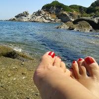 Photo taken at Spiaggia del Cotoncello by Noemi M. on 8/13/2013