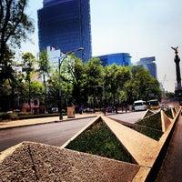 Photo taken at Av. Paseo de la Reforma by Gerardo D. on 4/18/2013