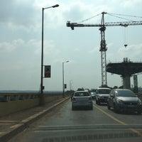 Photo taken at Mandovi Bridge by Remyasree M. on 11/1/2016