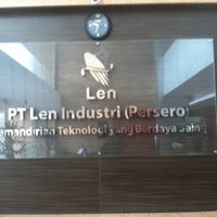 Photo taken at PT. LEN Industri (Persero) by Kha T. on 7/7/2014