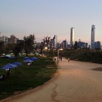 Photo taken at Parque Bicentenario by Sebastian M. on 3/30/2013