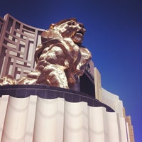Photo taken at MGM Grand Lion Statue by Carol M. on 6/24/2013