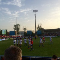 "Photo taken at Stadionul Național de Rugby ""Arcul de Triumf"" by Alexandra C. on 6/18/2016"