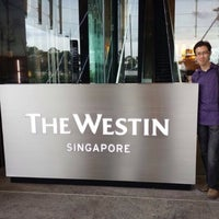 Photo taken at The Westin Singapore by Shawn L. on 5/10/2014