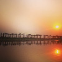 Photo taken at ဦးပိန် တံတား U Bein Bridge by Marina D. on 2/28/2013