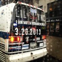 Photo taken at MTA Bus - 7 Av & W 57 St (M31/M57/X12/X14/X30/X42) by @thecultureofme on 3/16/2013
